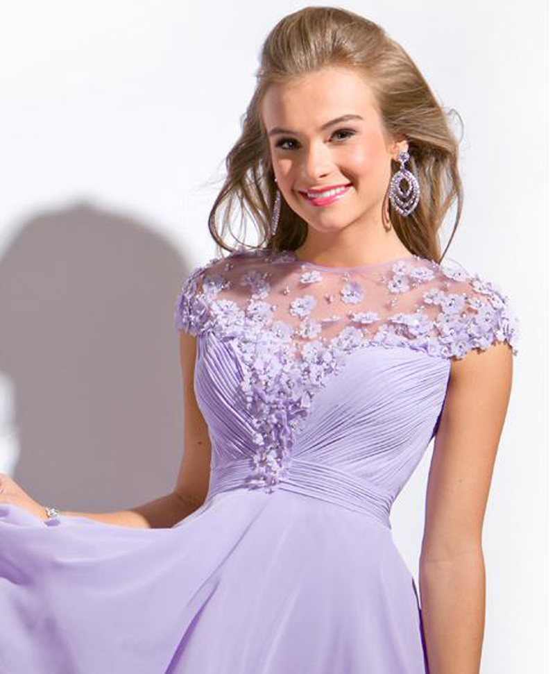 Aliexpress.com : Buy 2016 Romantic Lilac Cocktail Dress for Girls ...