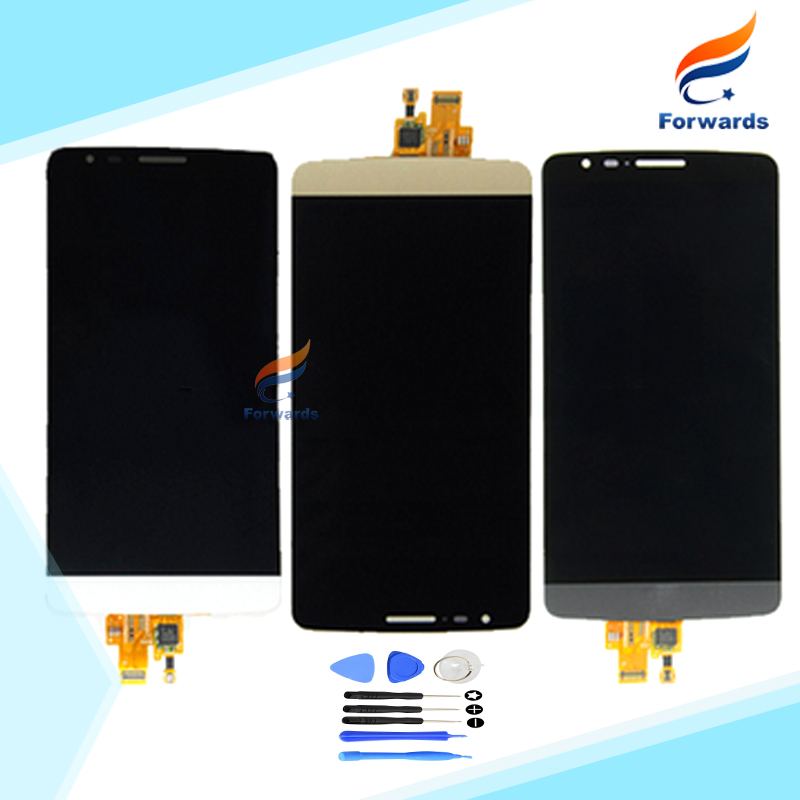 ФОТО New tested LCD for LG G3 Stylus D690 Screen Display with Touch Digitizer + Tools Assembly Gray&White&Gold 1 piece free shipping