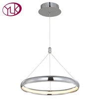 Youlaike Modern Pendant Light For Lobby Dining Room Single Ring Arts Decoration Hanging Lighting Fixtures LED