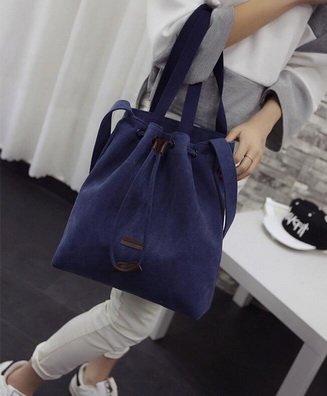 100Pcs Shoulder Bags Canvas Bucket Bags Travel Beach Bags Ladies Tote Purse Shopping Bags