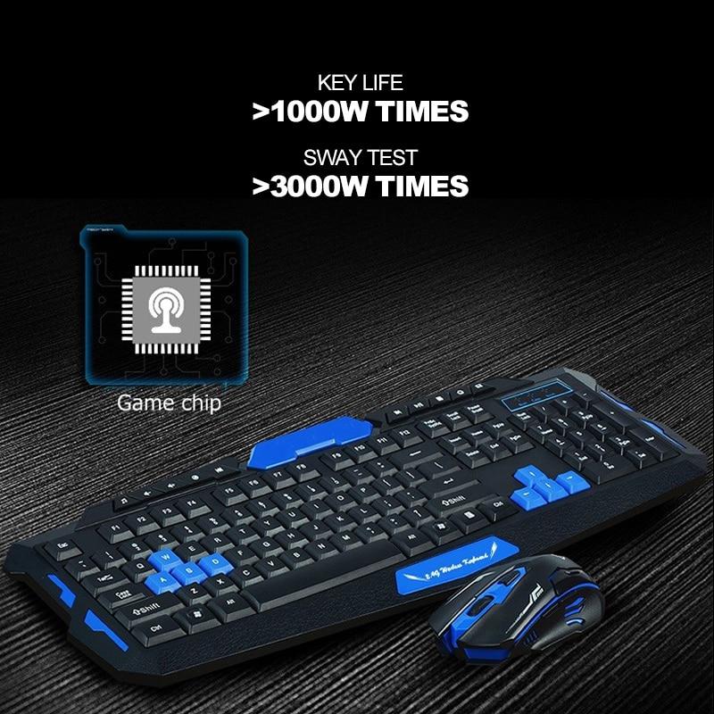 Guho Беспроводной 2.4 ГГц Gaming Keyboard И Мышь комбинации Водонепроницаемый оптический мультимедиа Эргономичный USB механические Мыши компьютерные ...