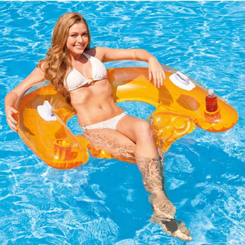 2016 INTEX Brand Inflatable Water Sofa 152*99cm Air Mattress Cup Holder Water Lounge Ideal Swimming Pool Leisure Floater A39003