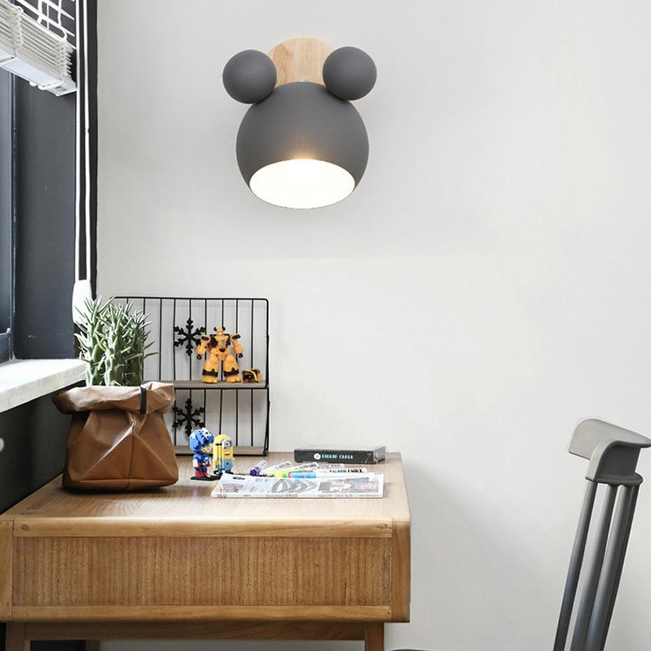 parede nordic designer cor lâmpada de parede