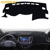 Car Dashboard Cover Avoid Light Pad Instrument Platform Dash Board Cover For Hyundai Creta 2015 2016