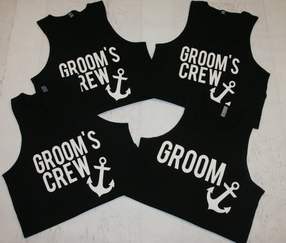 2f1124a736c49 personalized wedding Grooms Crew groomsmen tanks tops t shirts Bachelor  Party gifts favors