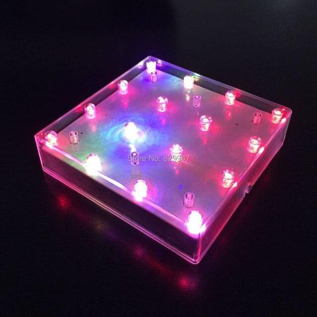 4 Pcslot Free Shipping 5 Inch Square Shape Led Vase Base Light