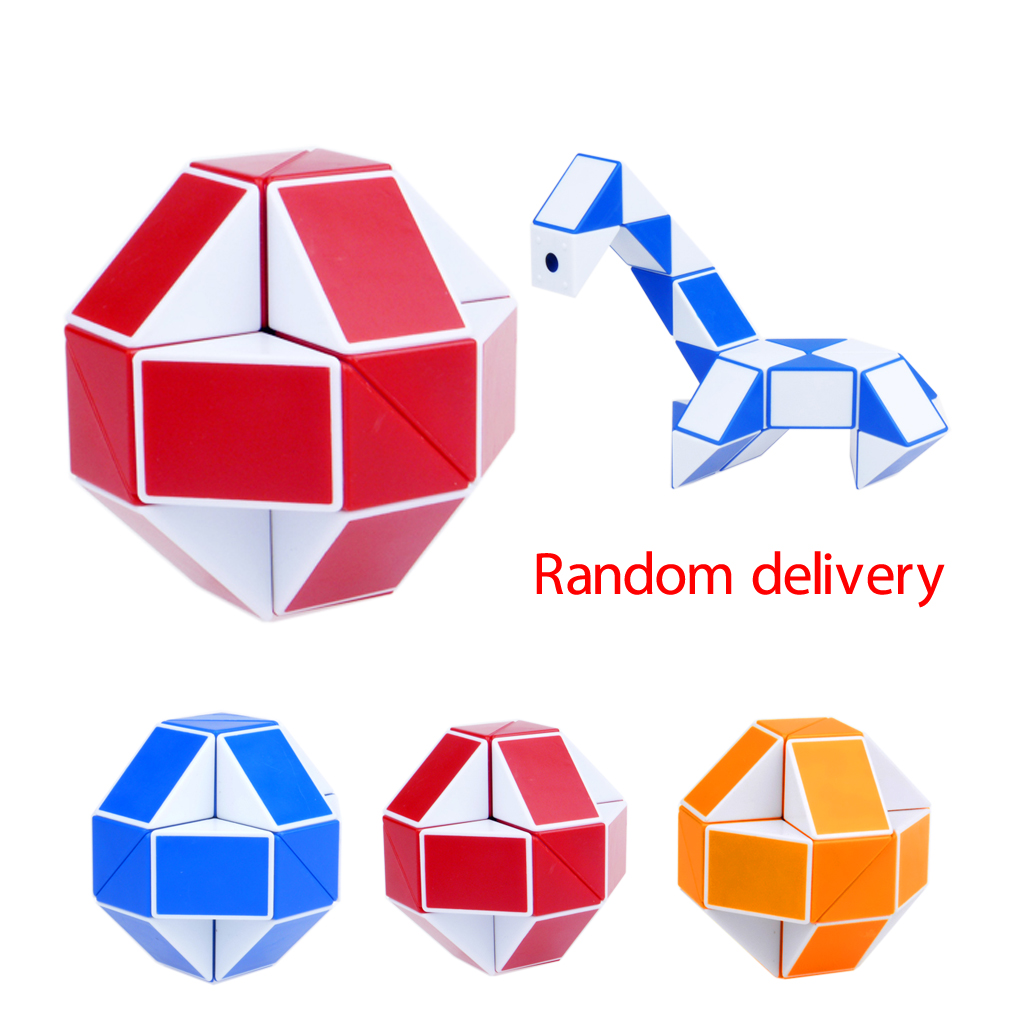 Hot Sale Magic Snake Shape Cube Puzzle Toy Christmas Gifts Random Color
