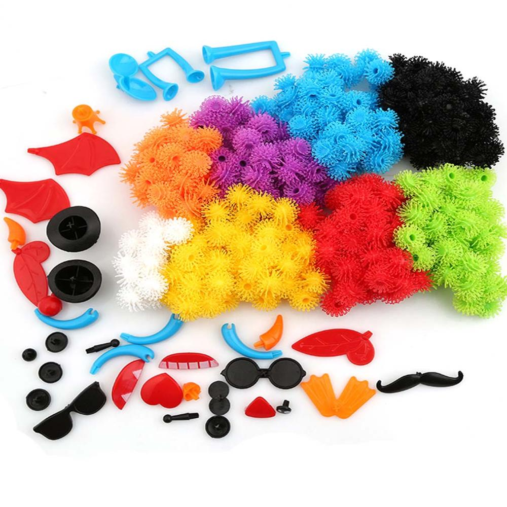 400pcs Kid Educational Assembling 3D Puzzle Toys For Children DIY Puff Ball Squeezed Variety Shape Creative Handmade Toy Puzzles
