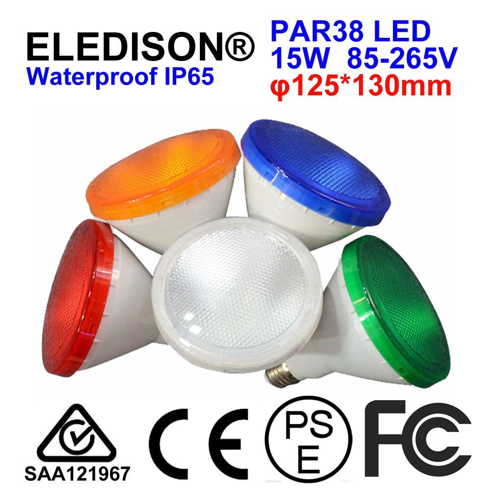 PAR38 LED Light Bulb 12W Landscape Lighting Garden Park Grass Land Flood Light Bulb Waterproof IP65 Red Yellow Blue Green RGB