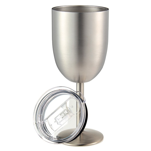 Colorful Stainless Steel Wine Glasses