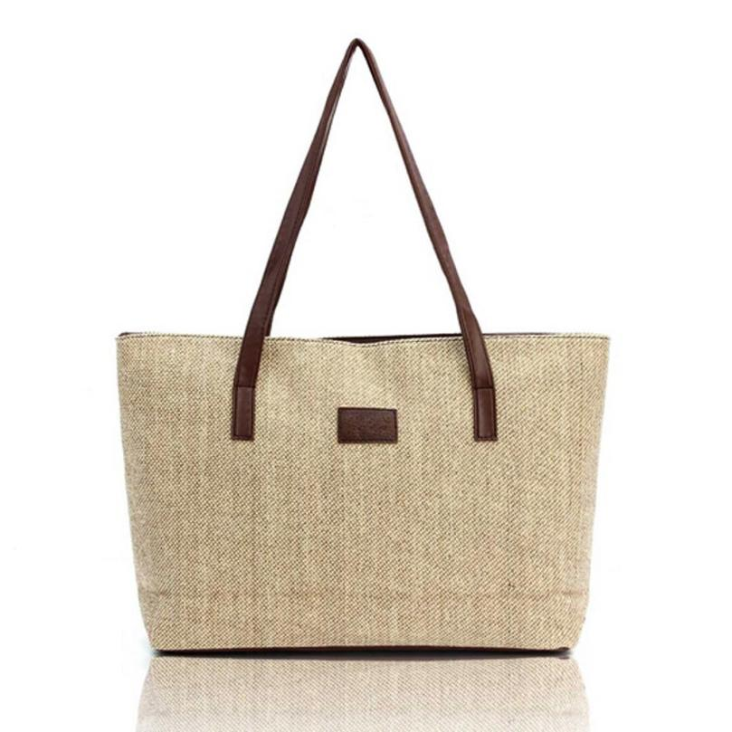 Women Canvas Handbag Tote Bag Top-handle Large Capacity Shoulder Bags Shopping Linen Casual Totes Wholesale Drop Shipping #T high quality travel canvas women handbag casual large capacity hobos bag hot sell female totes bolsas ruched solid shoulder bag