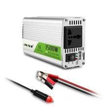 Onever Car Inverter 1500W DC 12V To AC 220V Power Converter With LED Indicator Light Cigarette Lighter Outlet Buzzer Alarm