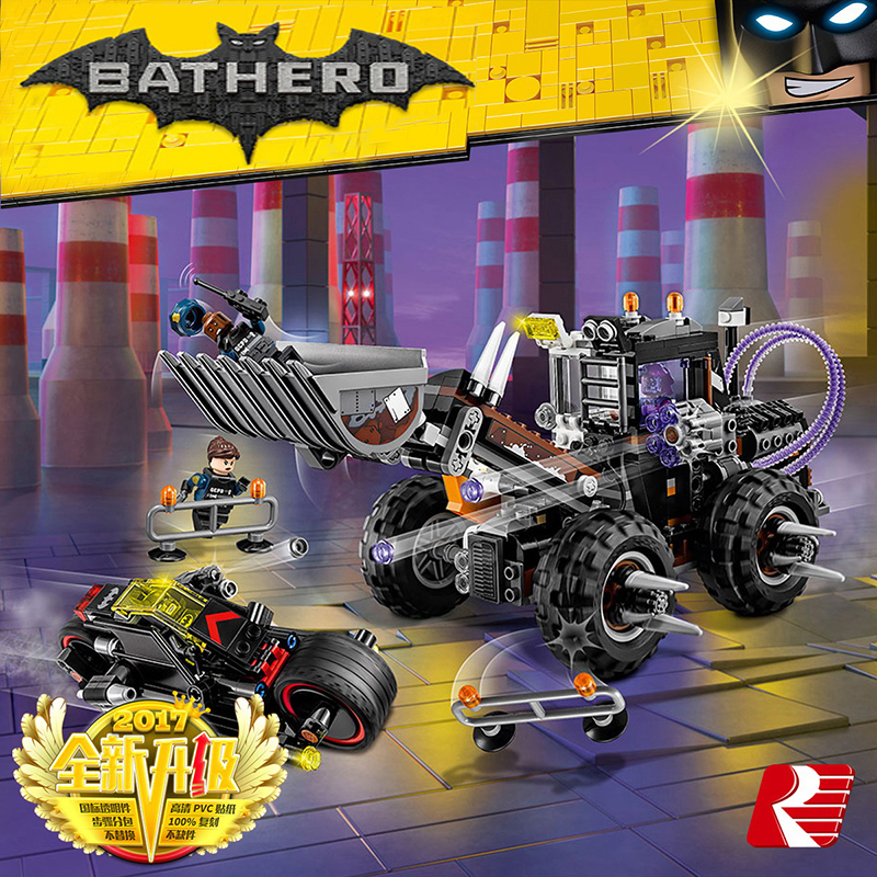 Lepin 07082 584pcs Models building toy Building Blocks Compatible with lego 70915 super hero batman double-faced man toy hobbies