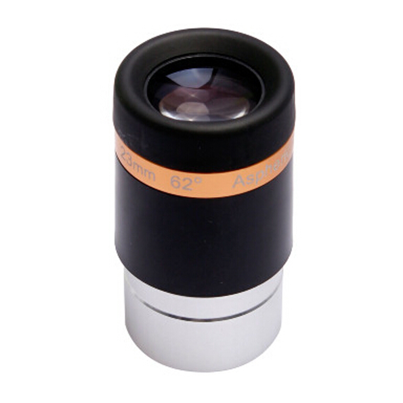 Free shipping Celestron 62 degree wide-angle eyepiece telescope 23mm 1.25 inch professional genuine accessories one piece 23mm celestron luminos 19mm eyepiece 82 wide angle 19mm eyepiece large field astronomical telescope accessories 93433 2 inch
