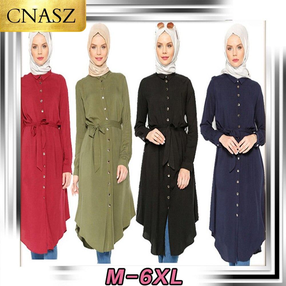 Middle East Abayas Muslim Blouse Long Sleeve Islamic Clothing For Women Turkish Malaysian Saudi Dubai Style Top 2019