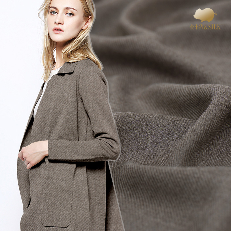 Languid is lazy time low twill wool Imported ultra soft delicate joker wool cloth fabric diy qiu dong
