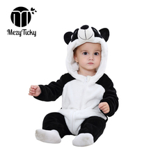 Baby Flannel Costumes Toddler rompers girls Cartoon pajamas Boys Hooded clothes Kids warm winter infant animal plush Jumpsuits mikistory fashion baby lion costumes long sleeves infant cosplay clothes cotton cute cartoon rompers hooded boys girls jumpsuits