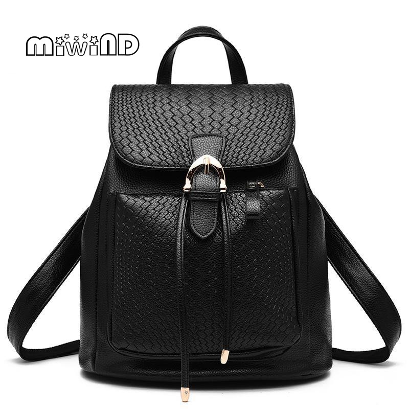 MIWIND Backpack Women Bag Drawstring Bag for Women Printing Backpack Free Shipping School Bags for Teenagers Mochilas Feminina miwind new backpack women school bags for teenagers mochila feminina women bag free shipping leather bags women leather backpack