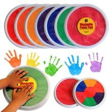 4 warna 75 ml / pcs anak-anak cat jari menggambar alat anak-anak yang aman warna cerah profesional dye dicuci tangan seni grafiti mainan set