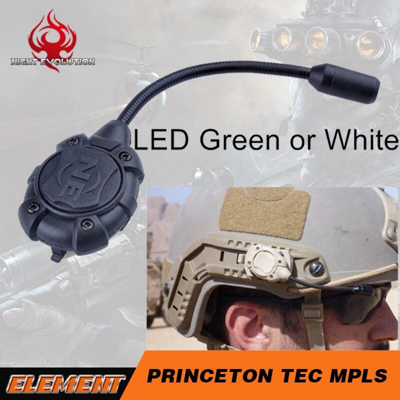 Us 19 7 27 Off Night Evolution Princeton Tec Mpls Helmet Light Modular Personal Lighting System Molle Mount Green Or White Ne05012 In Helmets From