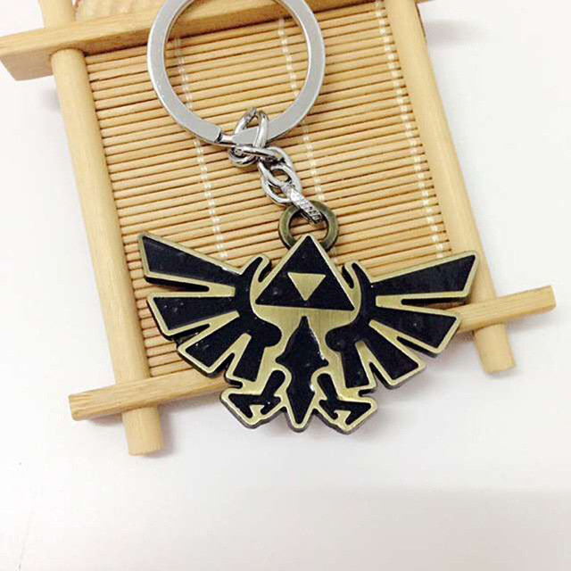 10PCS/Lot The Legend of Zelda Metal Keychain Pendant Key Chain Chaveiro Key Ring