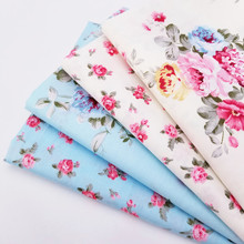 Floral Printing Series Cotton Twill Fabric DIY Sewing Quilting Patchwork Cloth Handmade Home Textile Bedding Soft
