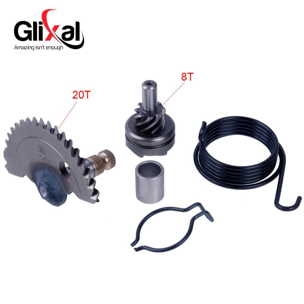 Glixal GY6 49cc 50cc 55 мм инициирования вал с простаивающими Шестерни Наборы для ухода за кожей для китайских 139QMA 139QMB роллер мопед ATV (20 т + 8 т) ...