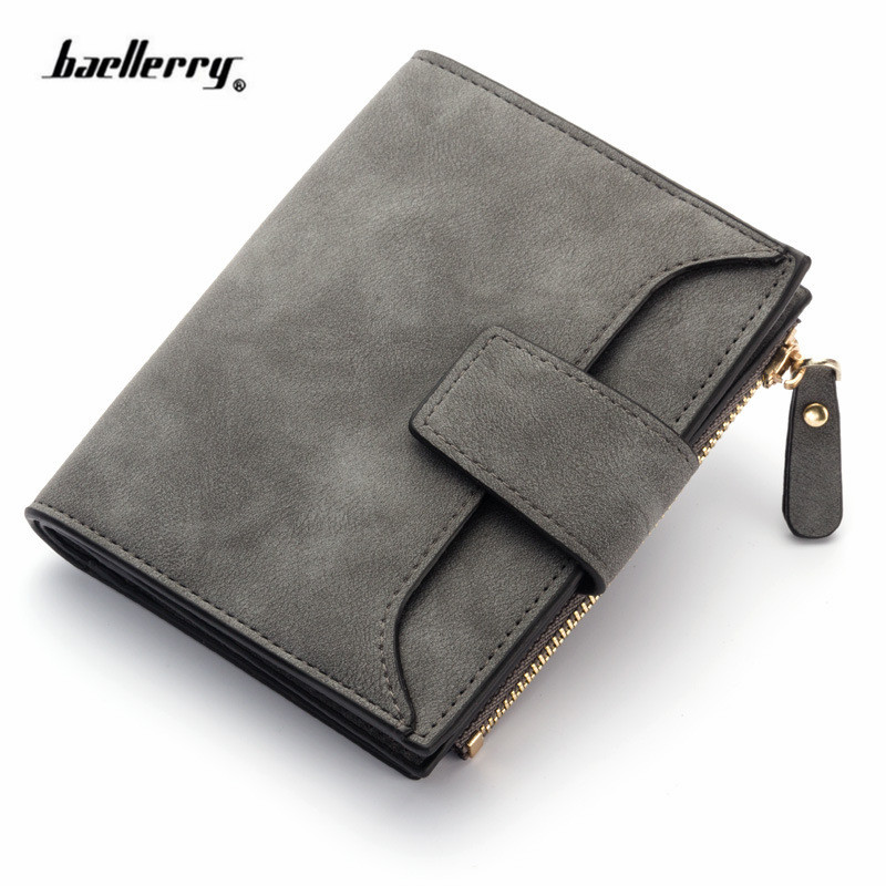 2018 leather women wallet hasp small and slim coin pocket purse women wallets cards holders luxury brand wallets designer purse 6
