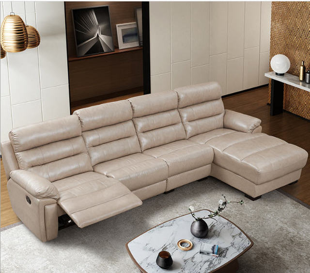 US $1234.05 5% OFF|Living Room Sofa set corner sofa recliner manual genuine  leather sectional sofas modern muebles de sala moveis para casa-in Living  ...