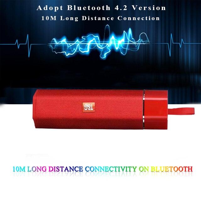 اللاسلكية مكبر صوت واقٍ من الماء يعمل بالبلوتوث المحمولة في الهواء الطلق البسيطة مضخم الصوت العمودي دعم FM راديو TF بطاقة ستيريو ايفي مضخم تراثية