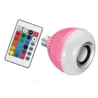 Best Price LED Lamp Bulb E27 12W RGB Wireless Bluetooth Speaker Music Smart Home LED Light Bulb With Remote Control AC110-240V