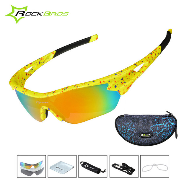 cfde0a260d73ac ROCKBROS Cycling Glasses Unisex TR90 3 Lens Polarized UV400 Bicycle Road  Bike Sun Glasses Windproof Sport