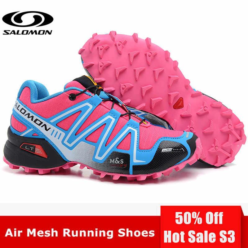 100% authentic c6bf5 28c87 Original Salomon Speed Cross 3 CS III Women Shoes Outdoor Woman Pink  Running Shoes zapatillas mujer