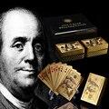 WR праздничные сувенирные подарки  24k Золотая игральная карта  американская цветная 100 долларовые банкноты из золотой фольги  чипы  художеств...