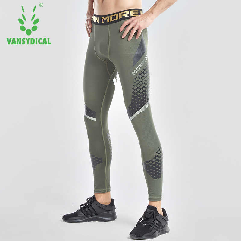 9c5af13a6c52a2 Vansydical 2018 Men's Compression Running Tights Breathable Jogging  Training Leggings 3D Printed Basketball Gym Pants