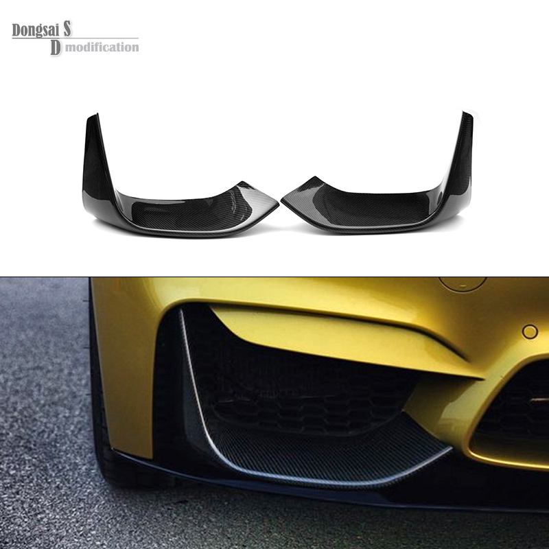 3D Style Car Styling Carbon Fiber Front Bumper Lip Spoiler Chin Splitter for BMW F80 M3 F82 F83 M4 Front Lower Bump