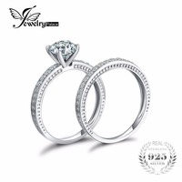 JewelryPalace 1 3ct Vintage CZ Anniversary Wedding Band Engagement Ring Bridal Sets Pure 925 Sterling Silver