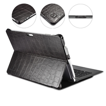 "Crocodile Genuine Leather Folio Cover Case for Microsoft Surface Pro 4 5 6 7 12.3"" Business Stand Smart Case for Surface Pro 7"