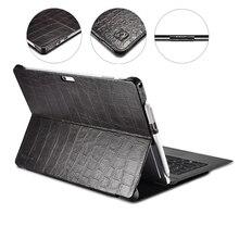 """Funda tipo libro de piel auténtica de cocodrilo para Microsoft Surface Pro 4 5 6 7 12,3 """", funda inteligente con soporte de negocios para Surface Pro 7"""