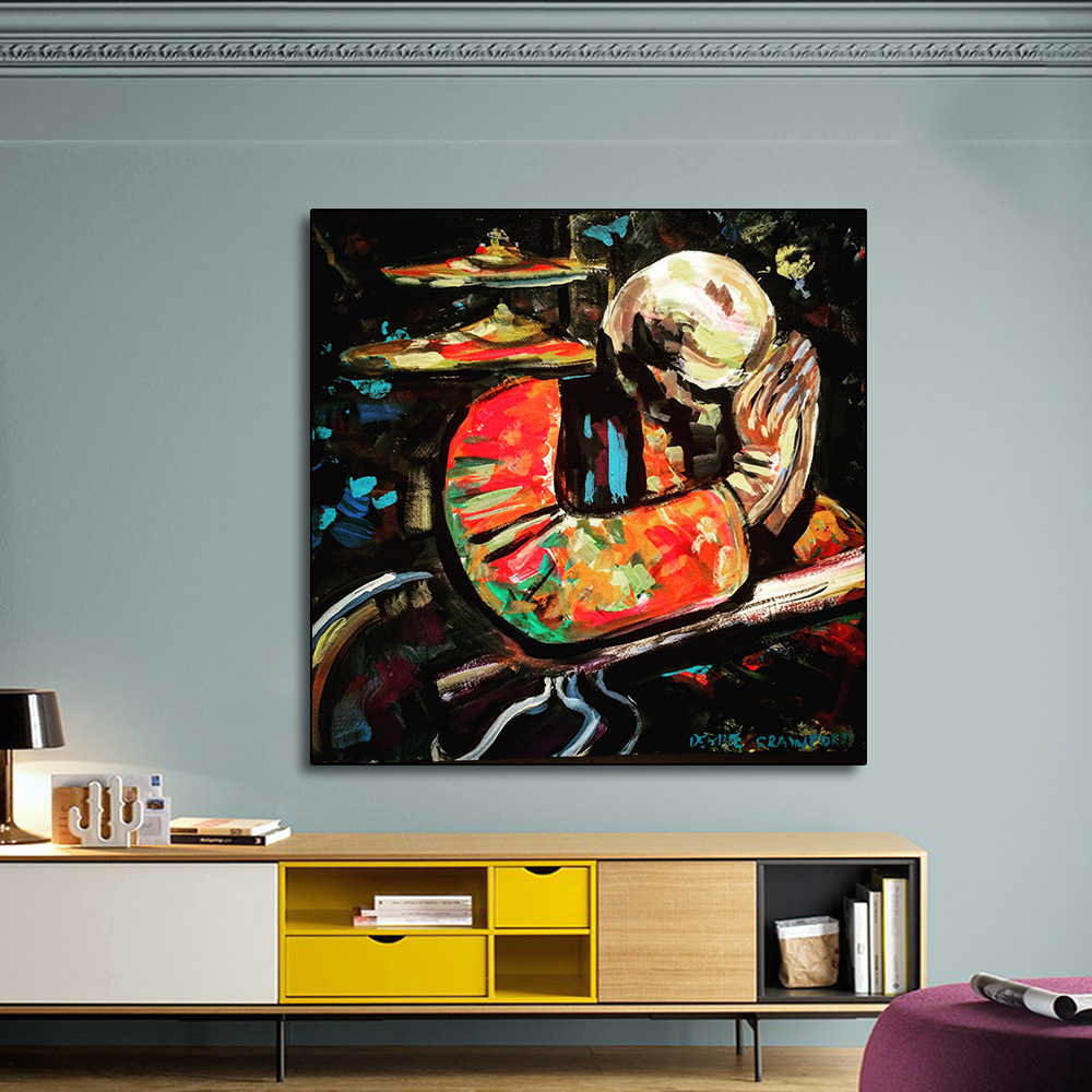 AAVV Poster and PrintsOld Man Blessing Painting Home Decorative Art Picture Painting on Canvas Prints for Living Room No Frame