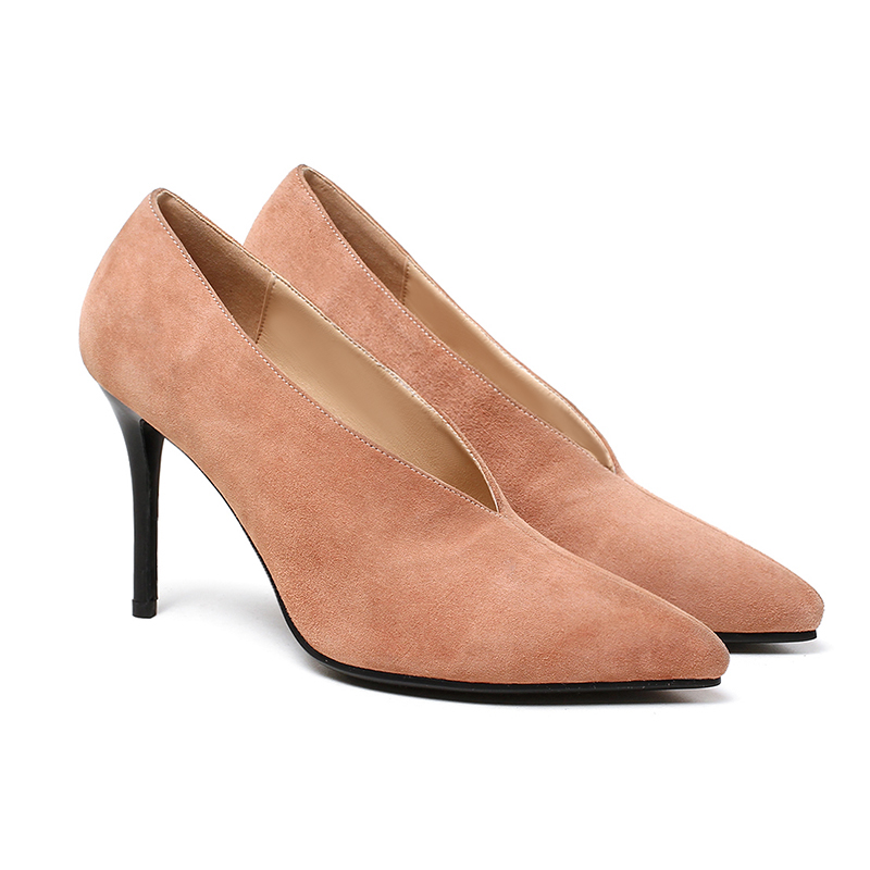 Suede Nude Pumps Promotion-Shop for Promotional Suede Nude Pumps ...