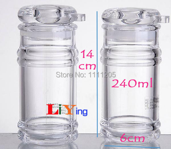 Acrylic Transparent Spice Jar Leak-proof Seasoning Oil Sauce Vinegar Bottle