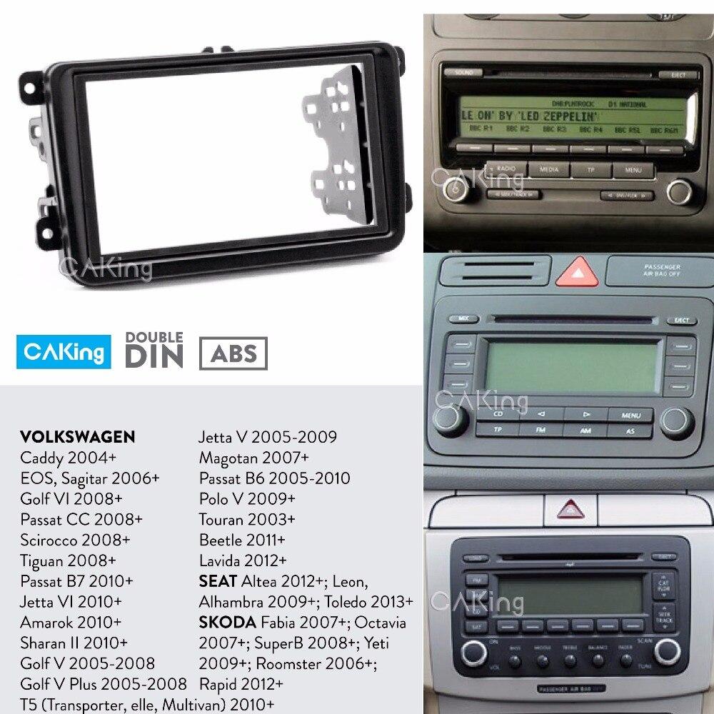 Car Radio Face Fascia Panel for VOLKSWAGEN Touareg,T5 Facia Plate Dash Kit Trim