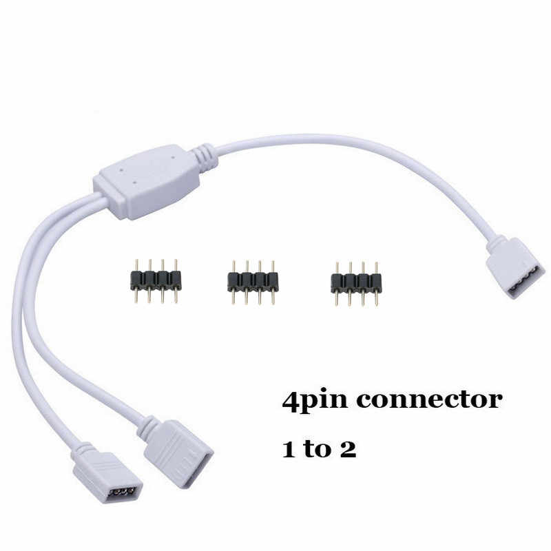 4Pin Splitter Cable 1 to 2 3 4 Way Y RGB Splitter Connector For 5050 3528 RGB LED Strip Lights With 4Pin Needle