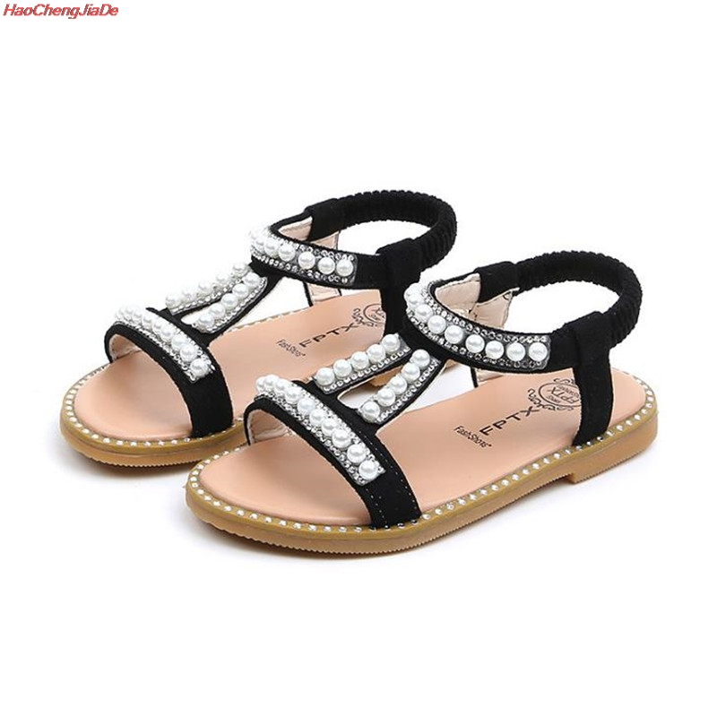 HaoChengJiaDe Girls Sandals Summer Kids Shoes Pearl Princess Shoes Sandals For Baby Girls Crystal Single Princess Shoes SandalsHaoChengJiaDe Girls Sandals Summer Kids Shoes Pearl Princess Shoes Sandals For Baby Girls Crystal Single Princess Shoes Sandals