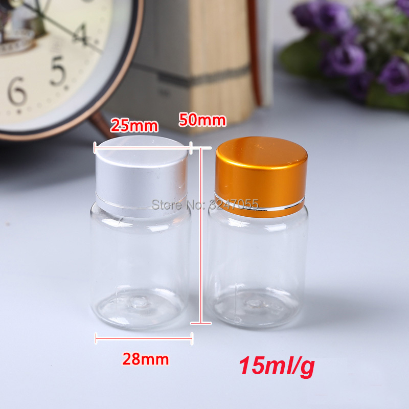 15ML 20/50/100pcs Empty Plastic Medicine Capsule Bottle,Tablets Storage Container,Medical Liquid Refillable Bottle,Pills Package free shipping 15ml 20 50pcs lot transparent pet medicine refillable bottle capsules liquid packing bottle with white screw cap