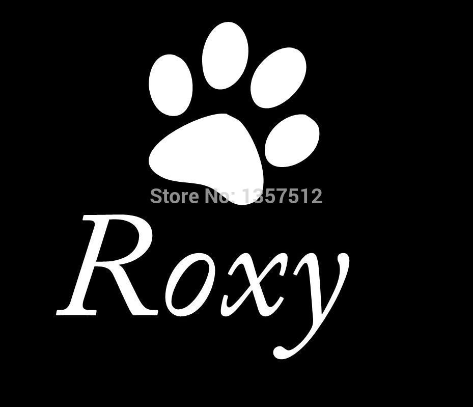 Online Get Cheap Paw Print Car Stickers Aliexpresscom Alibaba - Colts custom vinyl decals for car