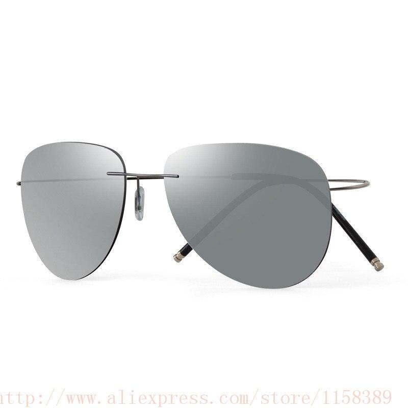bd6dcbe6a4 Ultra light Flexible Titanium alloy Rimless Mirror Polarized Sunglasses Men Eyeglasses  Eyewear Unisex Oculos de sol feminino-in Sunglasses from Apparel ...