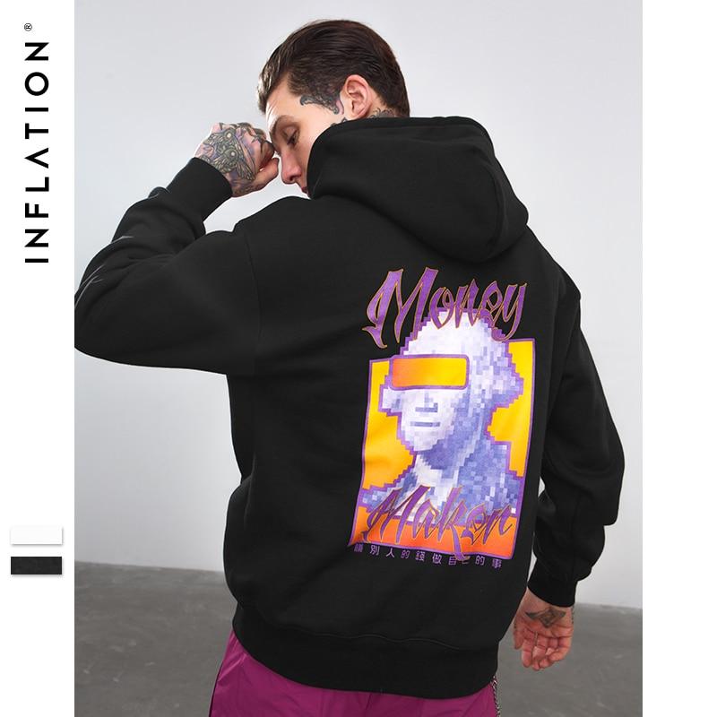Инфляции Zhongwen прикольные толстовки Для мужчин бренд одежда осень Зимние толстовки Для мужчин хип-хоп уличной флис Мода Толстовка 8784 Вт