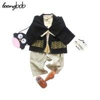2015 New Baby Romper Set Boys Girls Japan Style Suit 3 Sets Cloak 2 Pcs Japanese